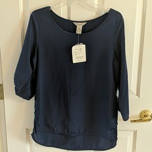 NWT Fun & Flirt Roll Sleeve Top
